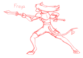 Freya Sketch by Tafka