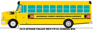 Riverdale Unified School District Bus by mcspyder1