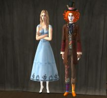 Alice and Tarrant Sims 2 by angia101