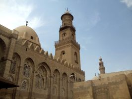 Islamic Cairo-Mosque n Minaret by LadyReemz86