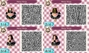 Animal Crossing: New Leaf QR Code- Metal Ninja by AngelAxexinf