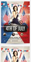 4th of July Party Flyer by saltshaker911