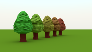 Low Poly Twisted Trees by Lucas-RS