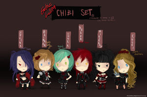 Chibi set 50 points donate 01 by JinkiMania