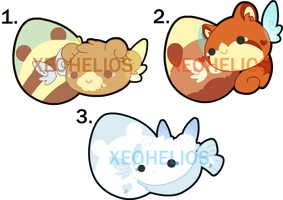 Fluffy Hatchling Adoptables Set 3: CLOSED by Xeohelios