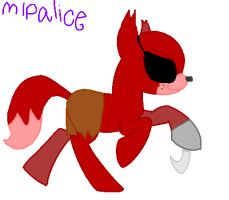 Foxy the pirate-MLP version. by MLPalice
