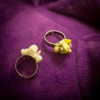 Geode rings by AbyssaliaMinis