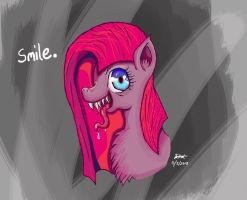 Pinkamena diane pie... Dont for get to smile! by Milliemonster
