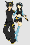 Umbreon and Luxray Gijinkas by keicea