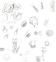 OLD WIPs n others art by xX-Kaii-Xx