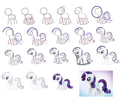 How to draw Rarity by rainbowPudding18