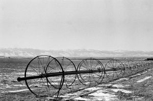 irrigation and mountians by michaelgoldthriteart