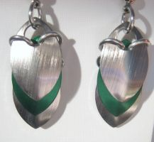 Scalemail earrings 4 by NoAng3l