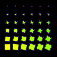 Rotating Square Stack by Strumpling
