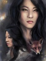 Young kitsune by PolliPo