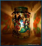 Blue Fairy Candle Holder by Bonniemarie