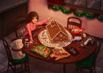 Gingerbread House by WhisperingSoul