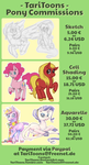 Pony Commission Info - OPEN by TariToons