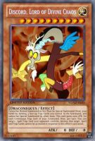 Discord, Lord of Divine Chaos (MLP): Yu-Gi-Oh Card by PopPixieRex
