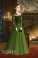 Belle's green dress by LadyAquanine73551