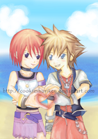 KH - Sora + Kairi by CookieShuriken