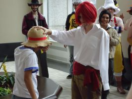Shanks and Luffy AB 2011 by TheMightyWaffleLover