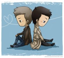 SPN - Destiel by Angels-Leaf