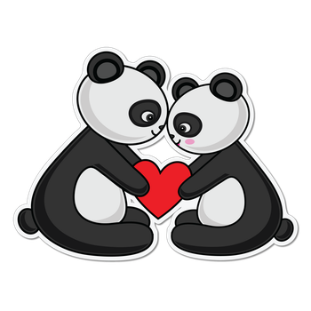 Panda Love Png by Assabeea