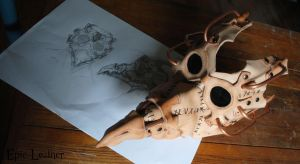 Steampunk Plague Doctor Mask WIP by Epic-Leather