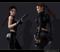 TR Lara and Doppelganger 7 by typeATS