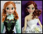 repainted ooak cartoon caricature bride anna. by verirrtesIrrlicht