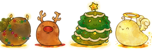 Christmas Oozies by Cavea