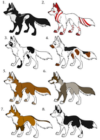 Dog adoptables (open) by itachi1235