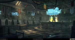 Bar Interior by Sketchshido