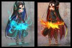 cold fire and hot fire DONKI by junefeier