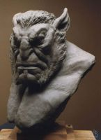 Gargoyle Bust by aaronsimscompany