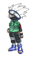 Cute Little Kakashi Dude by AprilPolitano