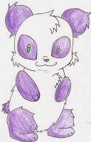 Purple over white Panda by RuborFides