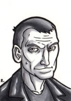 The Ninth Doctor Sketchcard by TheRigger