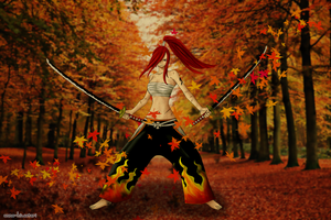Autumn is coming, Erza is ready wallpaper by AnnaHiwatari