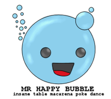 Mr Happy Bubble by Katheh