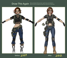 DTA:  Fem character concept by TheRogueSPiDER