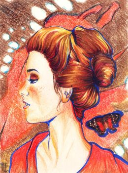 Butterfly Freckles by Maria-Lucia