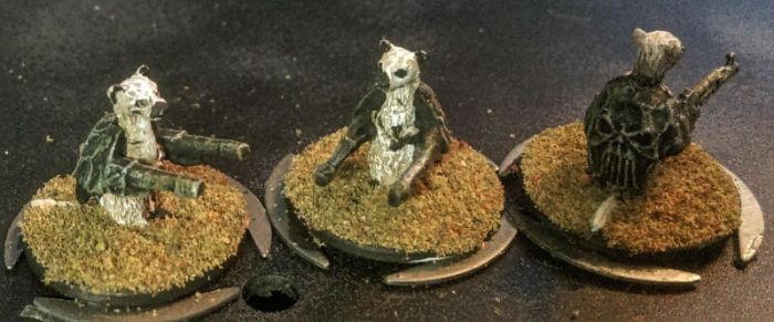 15mm Meerkats:  Auto-Ferret 9000 battlesuits by Spielorjh