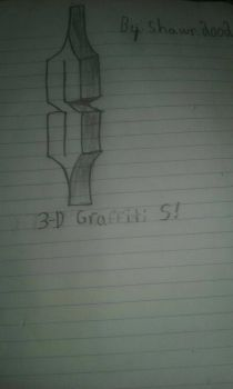 3-D Graffiti letter S sketch by shawn2002