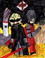 Master of Misery and El Furioso: Bibleman Villains by SonicClone