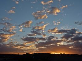 Stock Image - Cloudy Sunset - 02 by Life-For-Sale