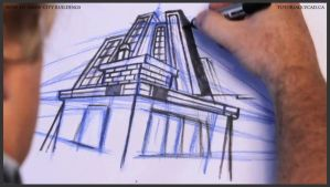 Learn how to draw city buildings 027 by drawingcourse