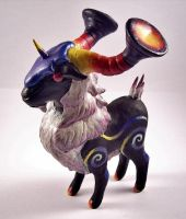 Yoggy Ram Nightmare Sculpture by SophieXSmith
