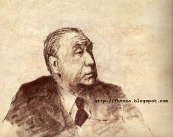 Jorge Luis Borges by fbruno